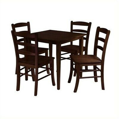 Pemberly Row 5 Piece Dining Set in Antique Walnut Finish