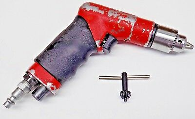 "Sioux 1/4"" Pneumatic Palm Drill With NEW Jacobs 1B Chuck Aircraft Tool 1410"