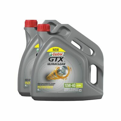 Castrol GTX Ultraclean 10W40 A3 / B4 Semi Synthetic Engine Oil - 8 Litres