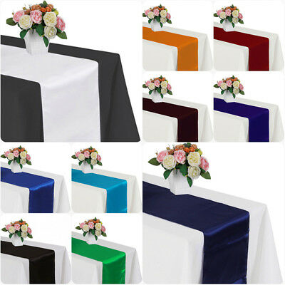 30cm x 275cm Satin Table Runner For Wedding Home Party Banquet Table Decoration