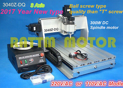 3 Axis Mach3 3040Z-DQ CNC router engraver engraving milling machine 110V/220V
