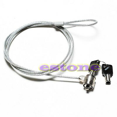 Universal Security Key Lock Steel Cable Anti-theft for Laptop Computer Notebook