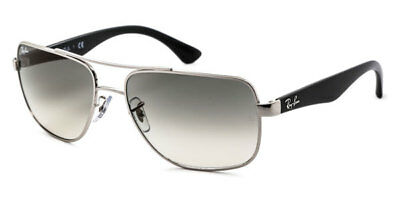 d4c80b45083 NEW Authentic RAY-BAN Silver Black Grey Gradient Sunglasses RB 3483 003 32  145