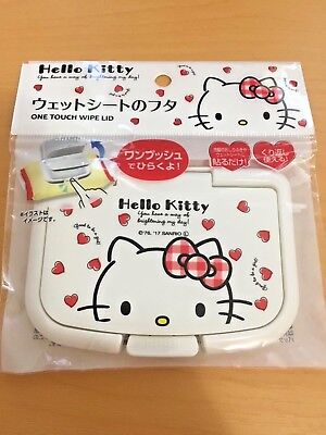 Sanrio Kawaii Hello Kitty Lid of Wet Sheet wipe(Re-usable) Japan limited baby
