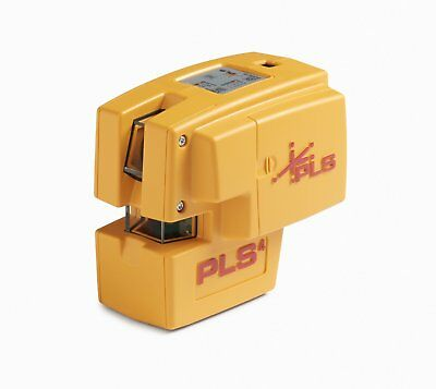 PLS 4 Red Cross Line Laser Level with Plumb, Bob and Level, PLS-60588 by Pacific