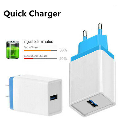 Universal Travel QC3.0 Quick Charge Wall Charger USB Phone Power Adapter