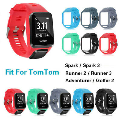 Replacement Silicone Band Strap For TomTom Runner 2/3 Spark/3 Sport GPS Watch AU