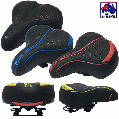 Big Wide Bum Bike Saddle Bicycle Seat Gel Cruiser Comfort Cycle Sprung OBS0008
