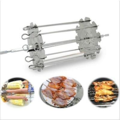 Kebab Cage Rotisserie Skewer Stainless Steel Grill for Roaster Oven Tool 8C