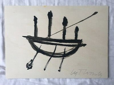 Cy Twombly Signed Painting on Wood