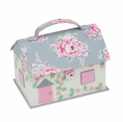 Beautiful Bloom Novelty Cottage Sewing Basket Box Casket - Hobbygift HGNOV/190