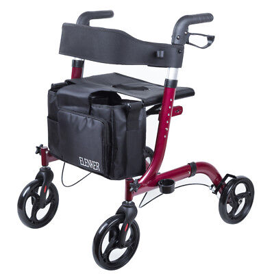USA ELENKER Euro Style Rolling Walker Compact Folding Rollator Walker Medical