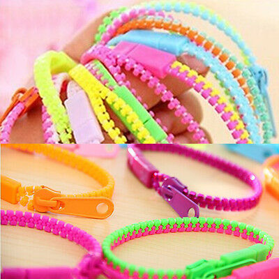 Two-Colors Zipper Bracelet Fidget Products Kids Sensory Toy Stress RelieToys.
