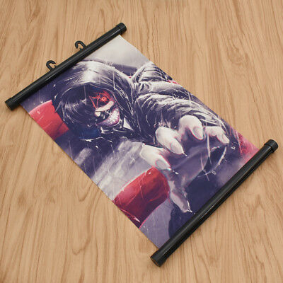 Japanese Anime Tokyo Ghoul Scroll Painted Wall Poster Cartoon Fans Art Gift Deco