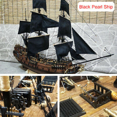 "24"" Black Pearl Ship DIY 3D Model Puzzle Building Sailing Fishing Boat Toy Gift"
