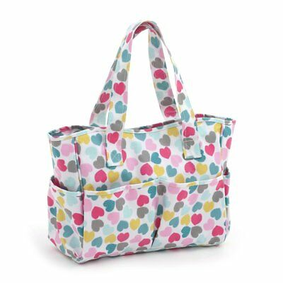 Love Heart Matt PVC Craft Tote Bag - Hobbygift MRB/276