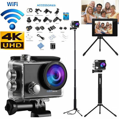 Ultra HD 4K WIFI Sports Action Camera Waterproof DV Camcorder / Selfie Stick US