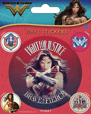 Wonder Woman - Fight For Justice - Stickerset Aufkleber 10x12,5 cm mit 5 Sticker