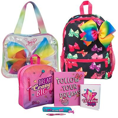 Jojo Siwa Backpack Shoulder Tote Bag 3D Bow Rucksack Sleepover Summer Bag Kids