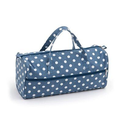 Denim Blue Polka Dot Spot Knitting Craft Bag - Hobbygift MR4698/271