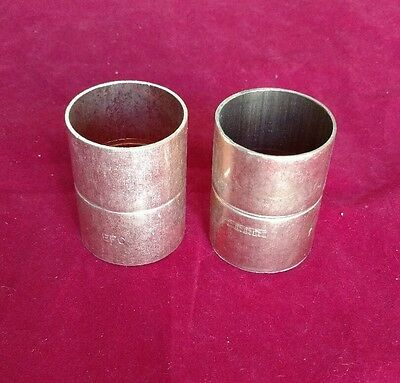 """Wrot Copper Coupling w/Stop 1-1/2"""" Tubing (Fits 1-5/8"""" O.D.) Braze • [Lot of 2]"""