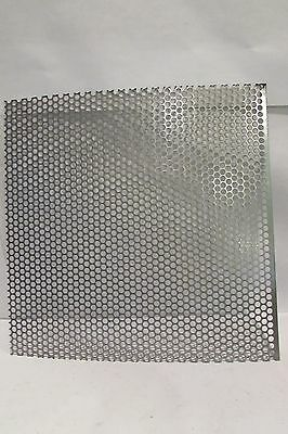 """==16 Ga.-(0598)-304 Stainless Perf-1/4""""Holes On 5/16""""Center 10-3/4"""" X 12-1/4 """"=="""