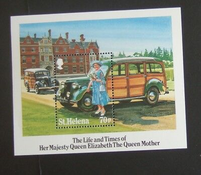 St Helena 1985 85th Birthday Queen Mother MS MNH UM unmounted mint