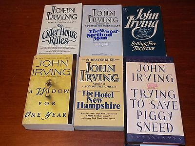 Lot of 6 John Irving books - Cider House Rules, Water-Method Man Setting Free th