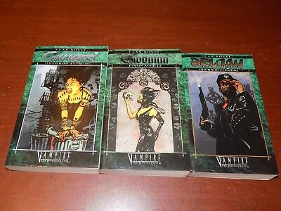 Lot of 3 Vampire The Masquerade Clan Novels PB Dark Fantasy
