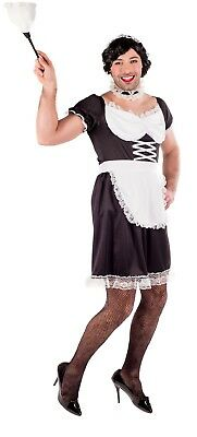 Mens French Maid Stag Do Night Funny Drag Comedy Fancy Dress Costume Outfit