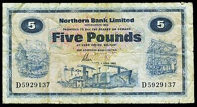 NORD IRLAND. NORTHERN IRELAND. 5 Pounds 1982. P. 188d.