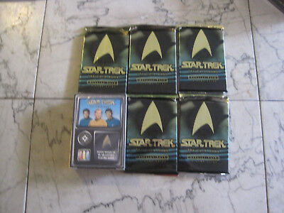 star trek 1996 fleer the card game ccg lot booster and 5 packs free shipping new