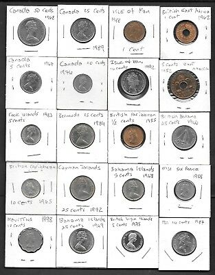 Lot of 20 British Empire Coins Great Starter Set Great Britain - UK - High Grade
