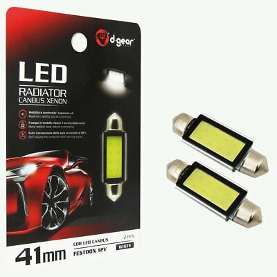 Lampadine Auto a SILURO 41MM a LED D-GEAR 10X41MM LED Canbus Xenon SV41 COB LED