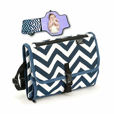 Diaper Clutch Portable Changing Pad Stylish Change Mat Waterproof Travel Home Station Lightweight Baby