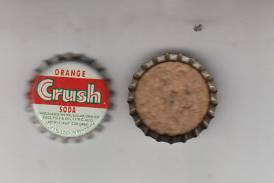 Orange Crush Soda Bottle Caps..100 Pieces  Cork  Lined Unused  Never Crimped