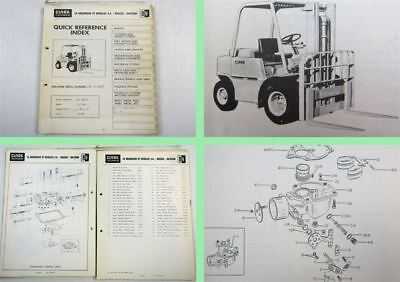 Clark CY60 Fork Lift Truck Spare Parts List Parts Catalog 1960s
