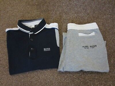 0ad07adc BOYS HUGO BOSS t-shirt and shorts outfit/set age 10/138 - £34.99 ...