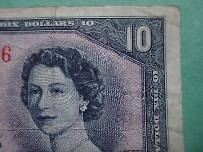 1954 , 10 Dollars,  Beattie-Coyne, Devil's face, Canada,  E/D...204,  BC-32b