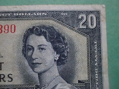 1954 , 20 Dollars,  Beattie-Coyne, Devil's face, Canada,  D/E...390,  BC-33b
