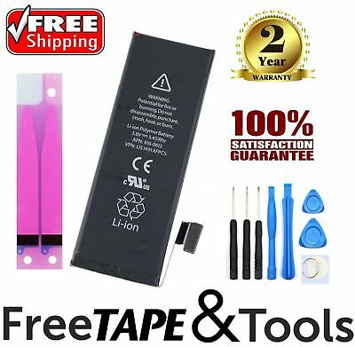 New 1440mAh Li-ion Battery Replacement w/ Flex Cable For iPhone 5 + Tape + Tools