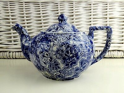 Laura Ashley Chintzware Blue Tea Pot Approx 2 Pints