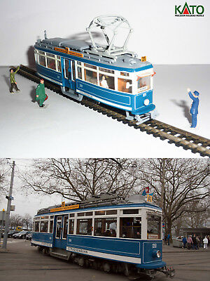 Zurich tram Elefant 1929 HO/N gauge (HOe) - motorized with figures KATO ATLAS