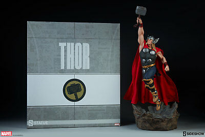 MARVEL COMICS Thor God of Thunder Statue Sideshow Collectibles Avengers Assemble