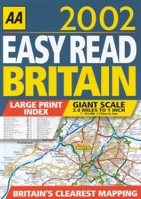 Easy Read Britain 2002 (AA Easy Read Guides) by Uk, Road Atlas Paperback Book