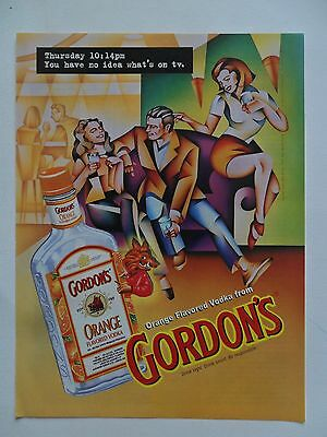 1997 Print Ad Gordon's Vodka ~ You Have No Idea What's On TV ~ Boar ART