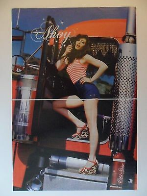 2007 Print Ad Old Spice Cologne Body Wash ~ Sexy Girl Semi-Trailer Truck Ahoy