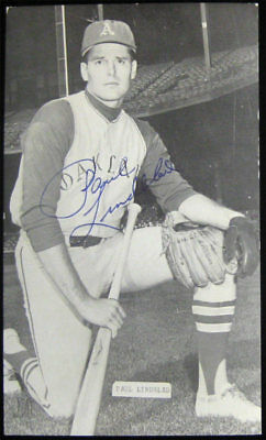 Paul Lindbland SIGNED/AUTO J D McCarthy Postcard Oakland A's Athletics Baseball