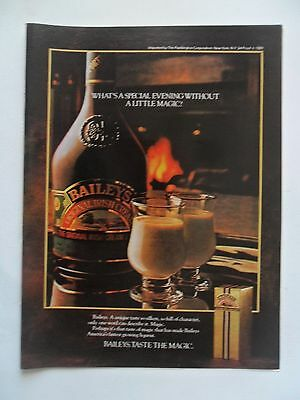 1982 Print Ad Baileys Irish Cream Liqueur ~ Not a Special Evening Without Magic