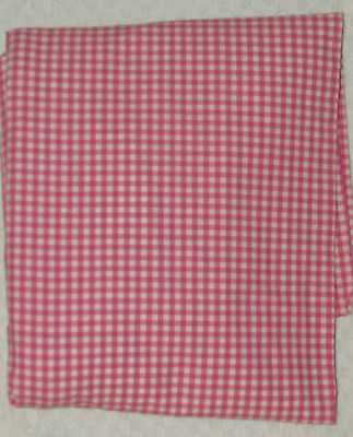 POTTERY BARN KIDS FITTED CRIB TODDLER Bed SHEET RASPBERRY PINK GINGHAM COTTON